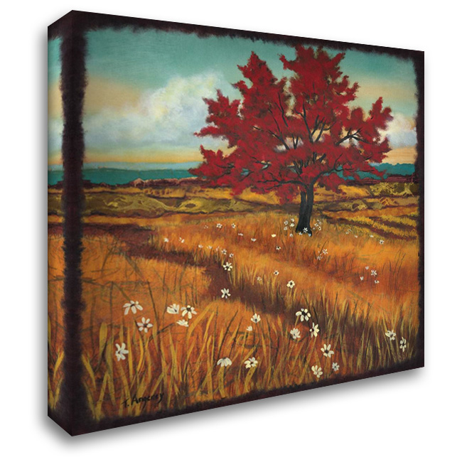 Distant Fields I 28x28 Gallery Wrapped Stretched Canvas Art by Angeney, Tamara