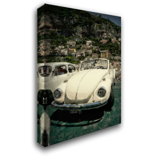 Cars In Amalfi 28x40 Gallery Wrapped Stretched Canvas Art by Arduini, JoAnn T.
