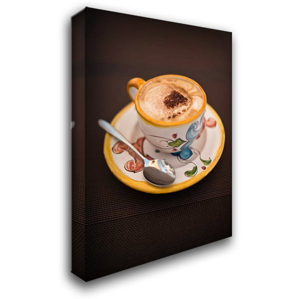 Coffee In Amalfi 28x40 Gallery Wrapped Stretched Canvas Art by Arduini, JoAnn T.