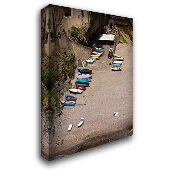 Boats Beach I 28x40 Gallery Wrapped Stretched Canvas Art by Arduini, JoAnn T.
