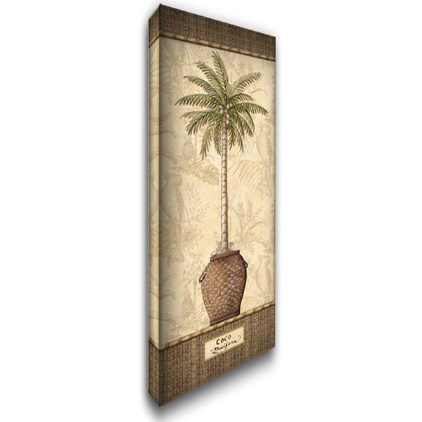 Botanical Palm III 19x40 Gallery Wrapped Stretched Canvas Art by Audrey, Charlene