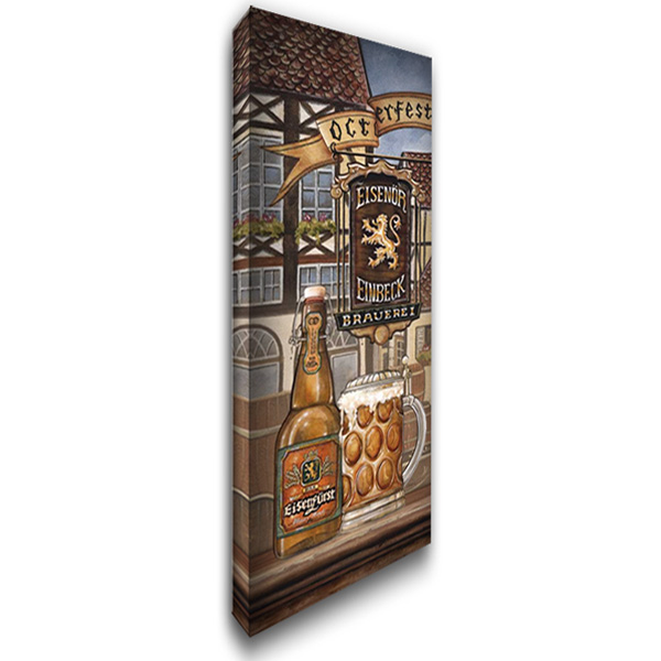 German Beer 18x40 Gallery Wrapped Stretched Canvas Art by Audrey, Charlene