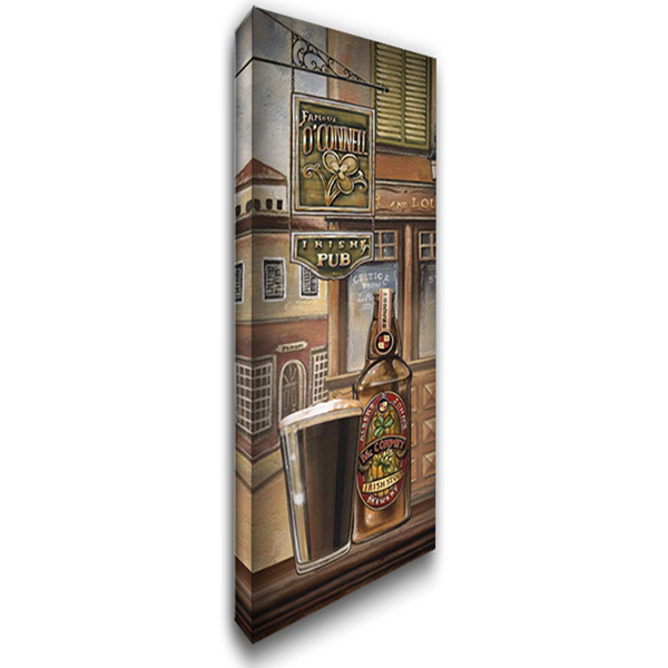 Irish Beer 18x40 Gallery Wrapped Stretched Canvas Art by Audrey, Charlene