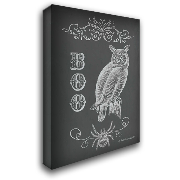Halloween Owl 28x36 Gallery Wrapped Stretched Canvas Art by Babbitt, Gwendolyn