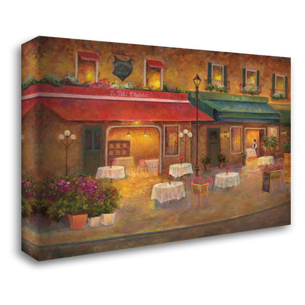 Dining in Paris I 40x28 Gallery Wrapped Stretched Canvas Art by Bailey, Carol