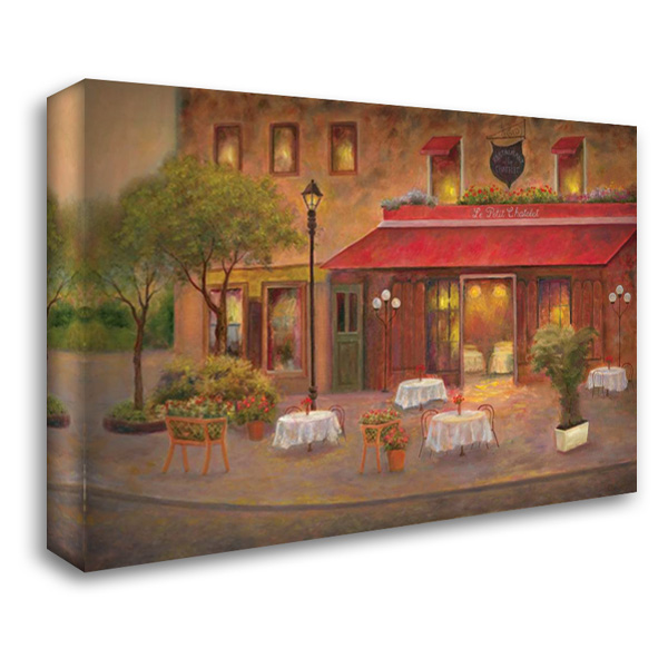 Dining in Paris II 40x28 Gallery Wrapped Stretched Canvas Art by Bailey, Carol