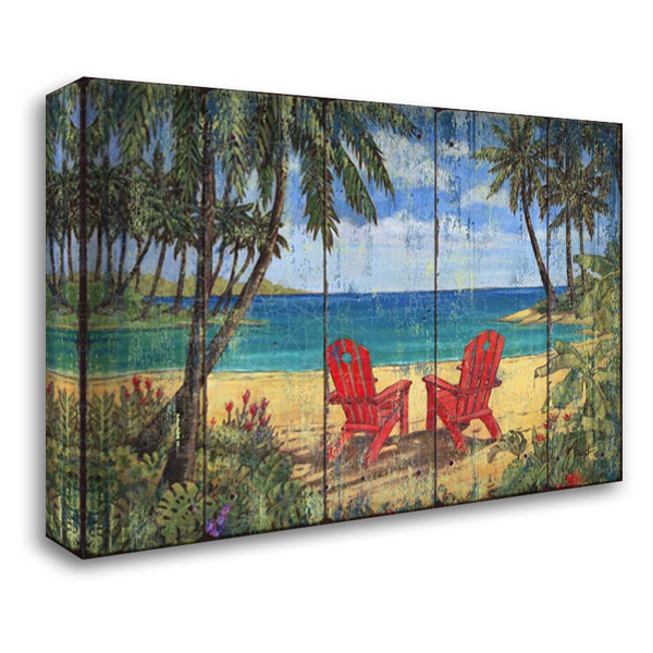 Discovery Bay 40x28 Gallery Wrapped Stretched Canvas Art by Brent, Paul