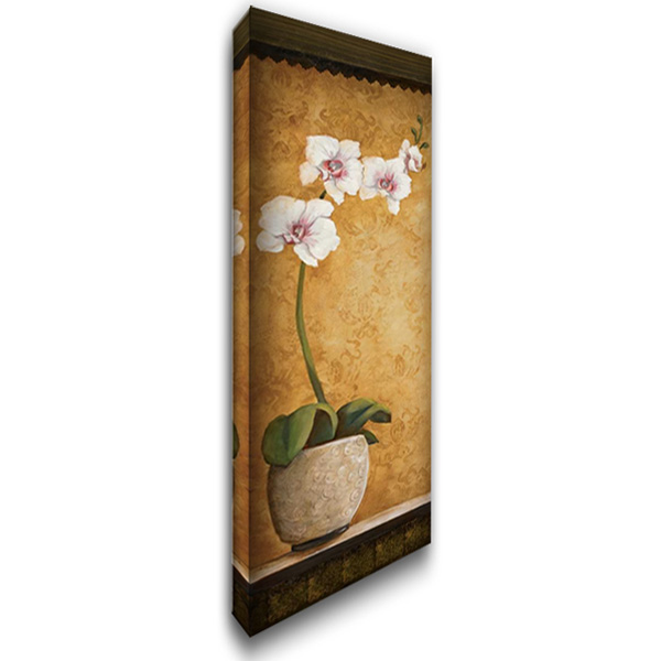 Hannas Orchids I 16x40 Gallery Wrapped Stretched Canvas Art by Osborne, Susan