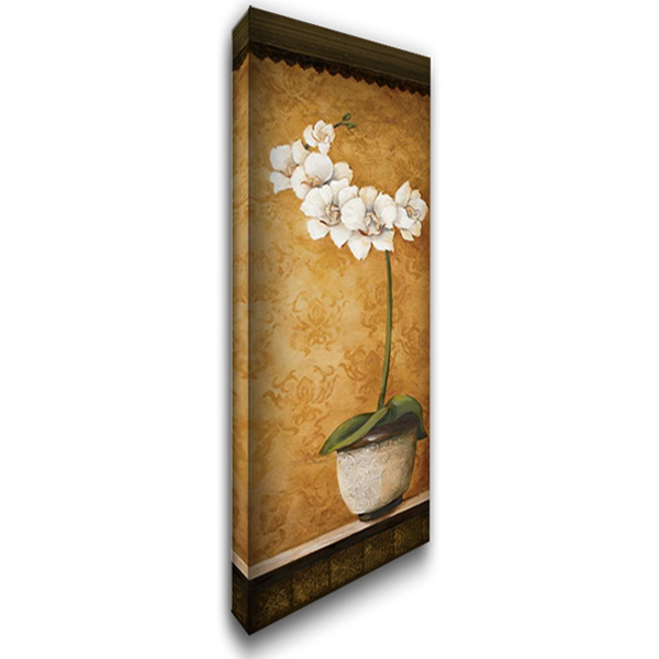 Hannas Orchids II 16x40 Gallery Wrapped Stretched Canvas Art by Osborne, Susan