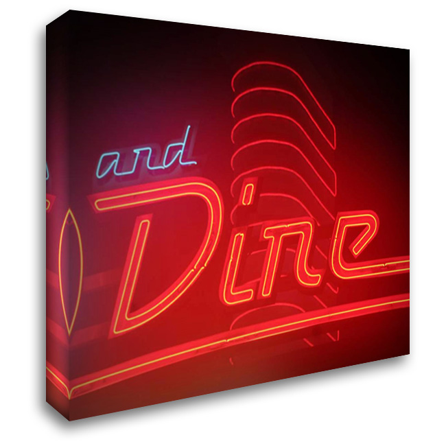 Dine Out I 36x28 Gallery Wrapped Stretched Canvas Art by Larson, Scott