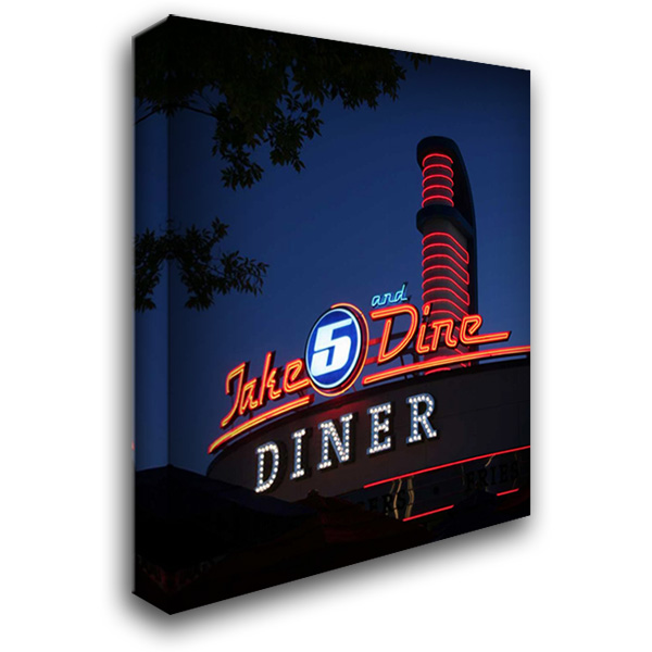 Dine Out IV 28x36 Gallery Wrapped Stretched Canvas Art by Larson, Scott