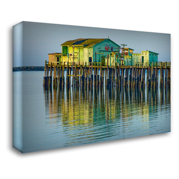Half Moon Bay Pier 40x28 Gallery Wrapped Stretched Canvas Art by Peterson, Lee