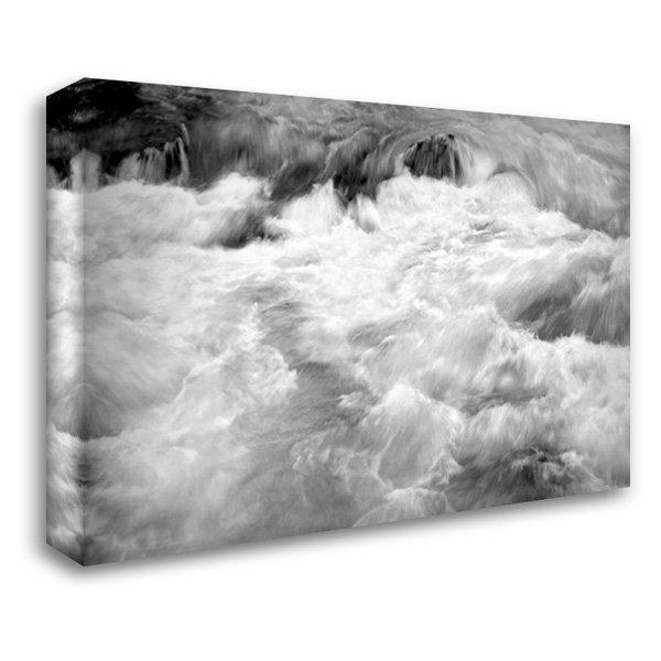 Hamma Hamma Current I BW 40x28 Gallery Wrapped Stretched Canvas Art by Taylor, Douglas