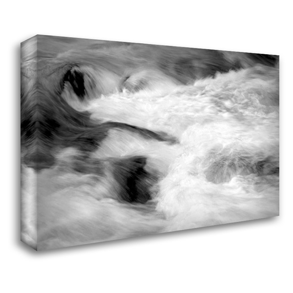 Hamma Hamma Current II BW 40x28 Gallery Wrapped Stretched Canvas Art by Taylor, Douglas