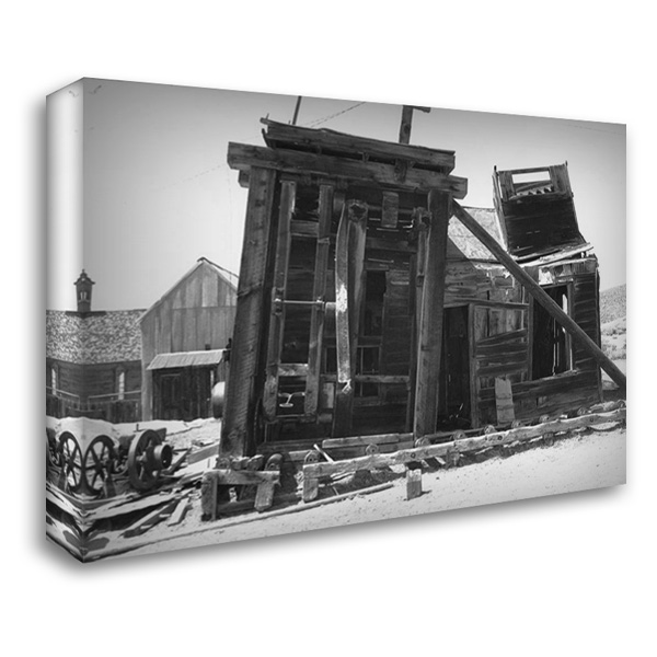 Dilapidated Bodi 37x28 Gallery Wrapped Stretched Canvas Art by Koetsier, Albert