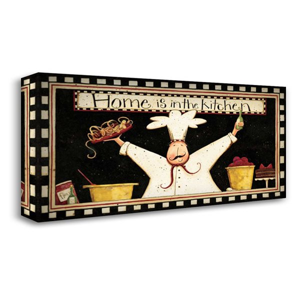 Happy Chef 40x22 Gallery Wrapped Stretched Canvas Art by DiPaolo, Dan