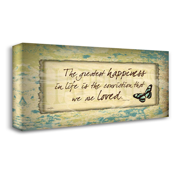Happiness Butterfly 40x22 Gallery Wrapped Stretched Canvas Art by Stimson, Diane