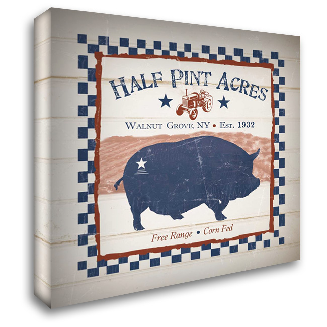 Half Pint Acres 28x28 Gallery Wrapped Stretched Canvas Art by Stimson, Diane