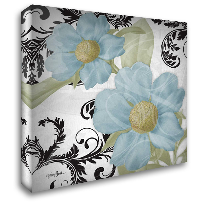 Dillenia Blue 28x28 Gallery Wrapped Stretched Canvas Art by Stimson, Diane