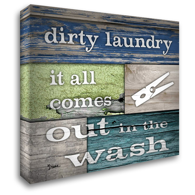 Dirty Laundry 28x28 Gallery Wrapped Stretched Canvas Art by Stimson, Diane