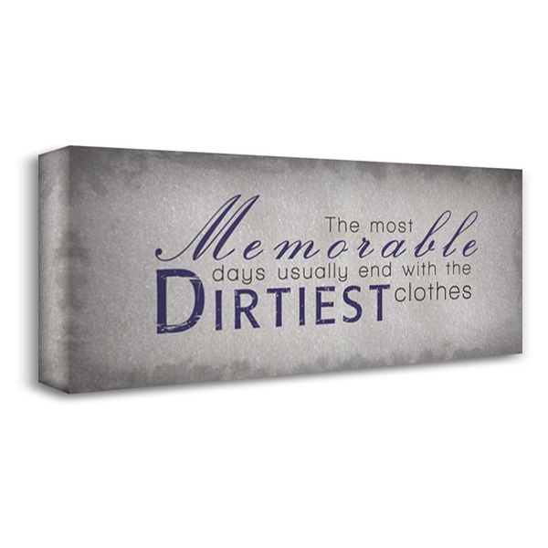 Dirtiest Clothes 40x18 Gallery Wrapped Stretched Canvas Art by Gibbons, Lauren