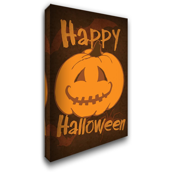 Happy Halloween 26x38 Gallery Wrapped Stretched Canvas Art by Gibbons, Lauren