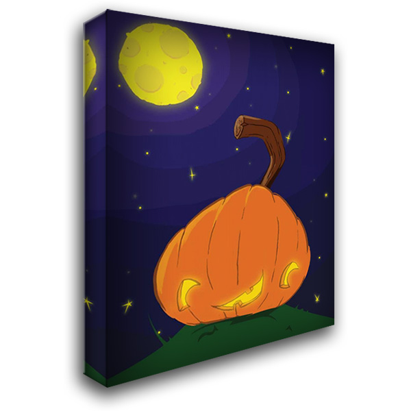Halloween Pumpkin B 28x36 Gallery Wrapped Stretched Canvas Art by Grey, Jace