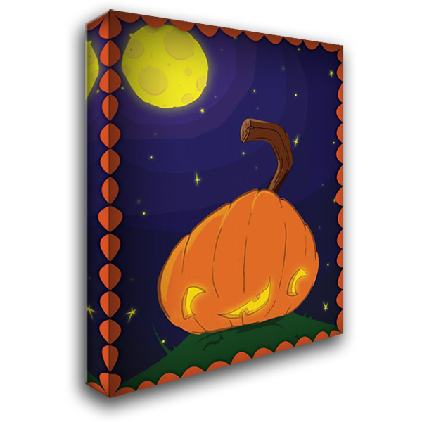 Halloween Pumpkin 28x36 Gallery Wrapped Stretched Canvas Art by Grey, Jace