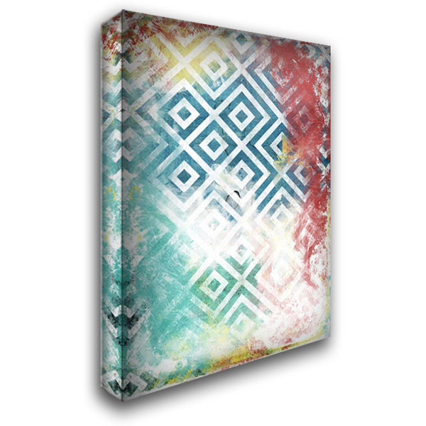 Happy cosmic pattern 28x40 Gallery Wrapped Stretched Canvas Art by Grey, Jace