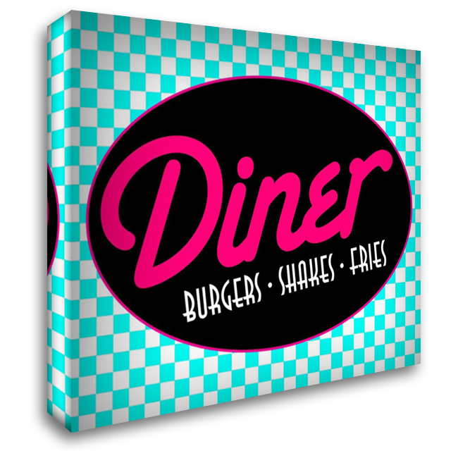 Diner Bright 36x28 Gallery Wrapped Stretched Canvas Art by Grey, Jace