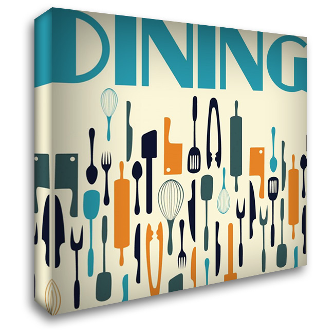 Dining 28x28 Gallery Wrapped Stretched Canvas Art by Grey, Jace