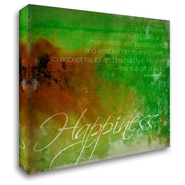 Happiness 28x28 Gallery Wrapped Stretched Canvas Art by Grey, Jace