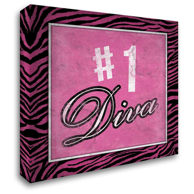 Diva 2 28x28 Gallery Wrapped Stretched Canvas Art by Grey, Jace