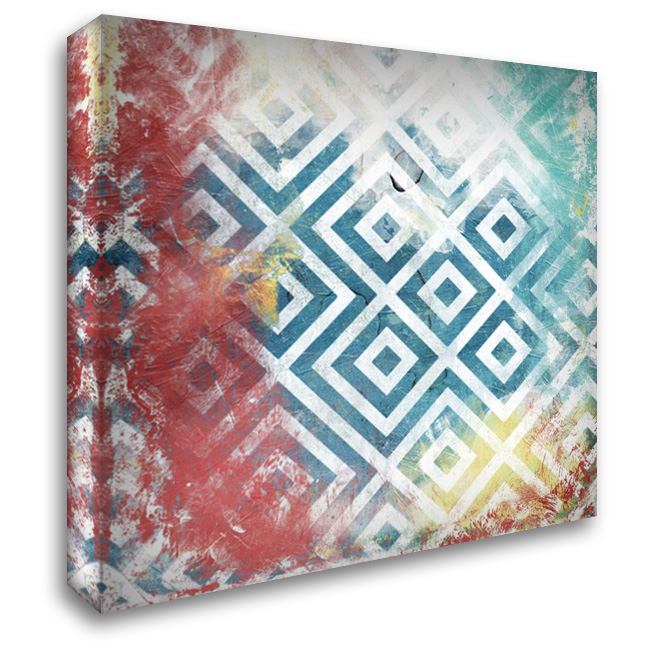 Happy Cosmic pattern mate 28x28 Gallery Wrapped Stretched Canvas Art by Grey, Jace