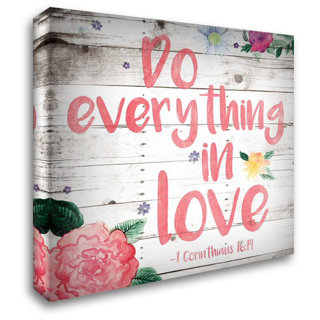 Do Everything 28x28 Gallery Wrapped Stretched Canvas Art by Grey, Jace
