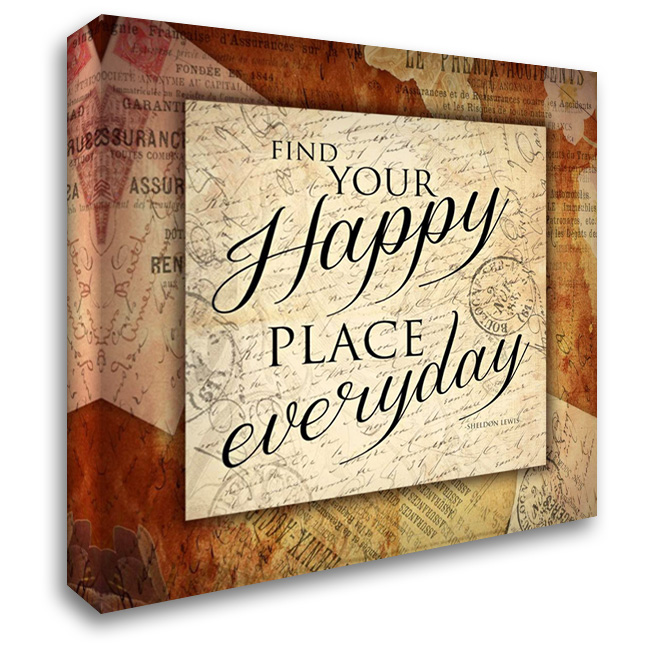 Happy 28x28 Gallery Wrapped Stretched Canvas Art by Grey, Jace