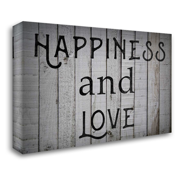Happiness and Love 40x28 Gallery Wrapped Stretched Canvas Art by Matic,Jelena