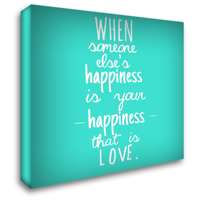 Happiness And Love 28x28 Gallery Wrapped Stretched Canvas Art by Matic, Jelena