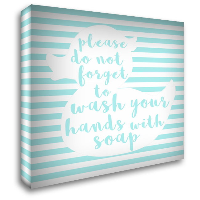 Hand Washing 28x28 Gallery Wrapped Stretched Canvas Art by Matic, Jelena