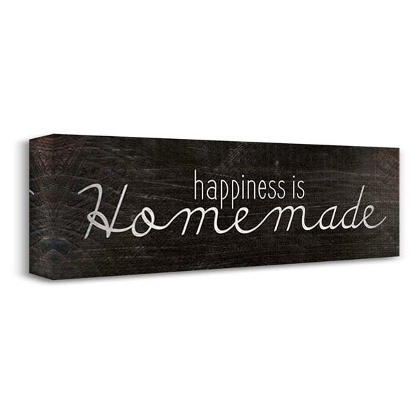 Happiness is Homemade 40x16 Gallery Wrapped Stretched Canvas Art by Kimberly, Allen