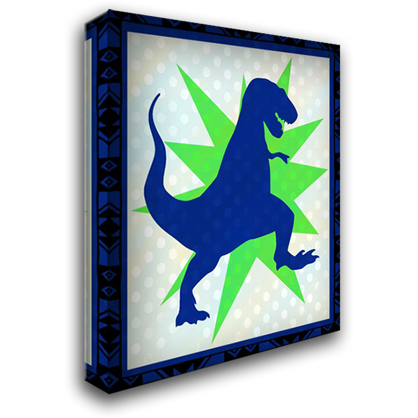 Dinosaur 1 28x36 Gallery Wrapped Stretched Canvas Art by Allen, Kimberly