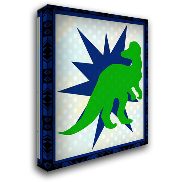 Dinosaur 3 28x36 Gallery Wrapped Stretched Canvas Art by Allen, Kimberly