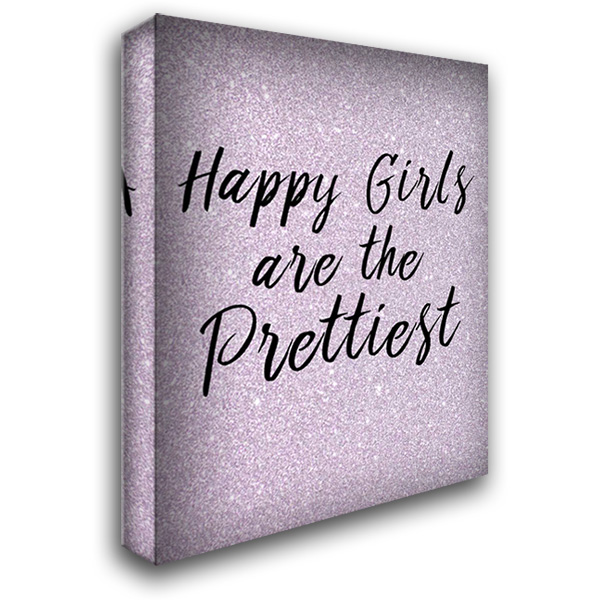 Happy Girls 28x36 Gallery Wrapped Stretched Canvas Art by Allen, Kimberly
