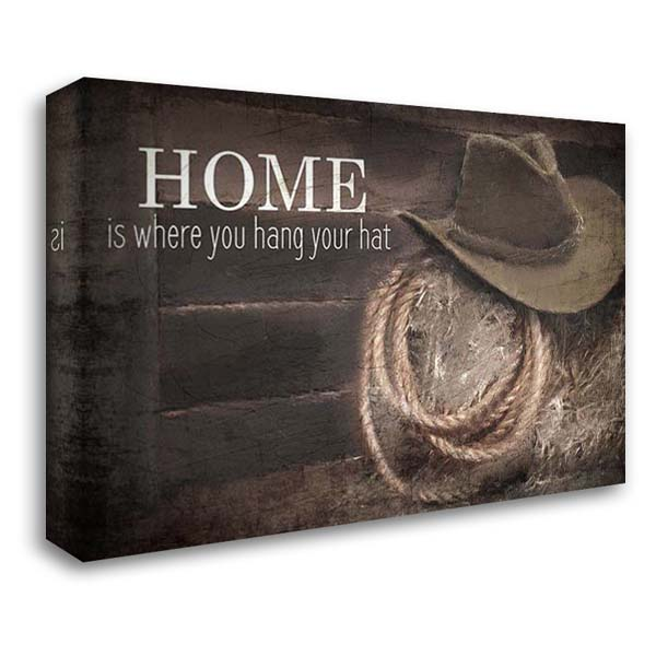 Hang Your Hat 40x28 Gallery Wrapped Stretched Canvas Art by Kimberly, Allen