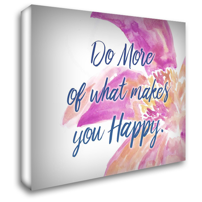 Do More 36x28 Gallery Wrapped Stretched Canvas Art by Allen, Kimberly