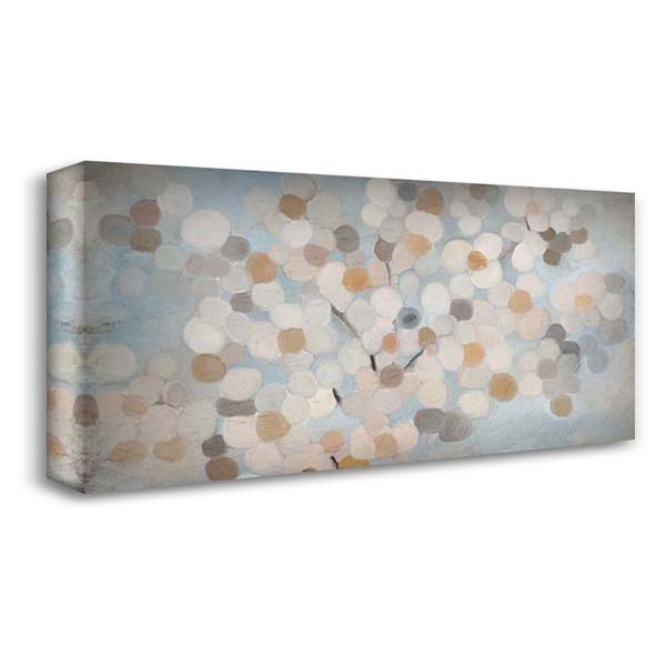 Happy Flowers 40x22 Gallery Wrapped Stretched Canvas Art by Kimberly, Allen