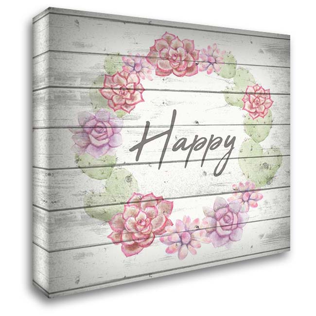 Happy 28x28 Gallery Wrapped Stretched Canvas Art by Kimberly, Allen