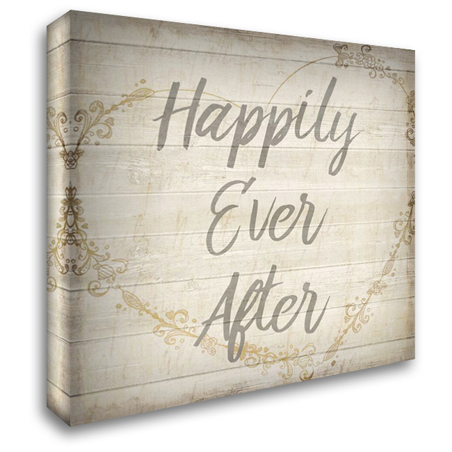 Happily Ever After Grey 28x28 Gallery Wrapped Stretched Canvas Art by Allen, Kimberly