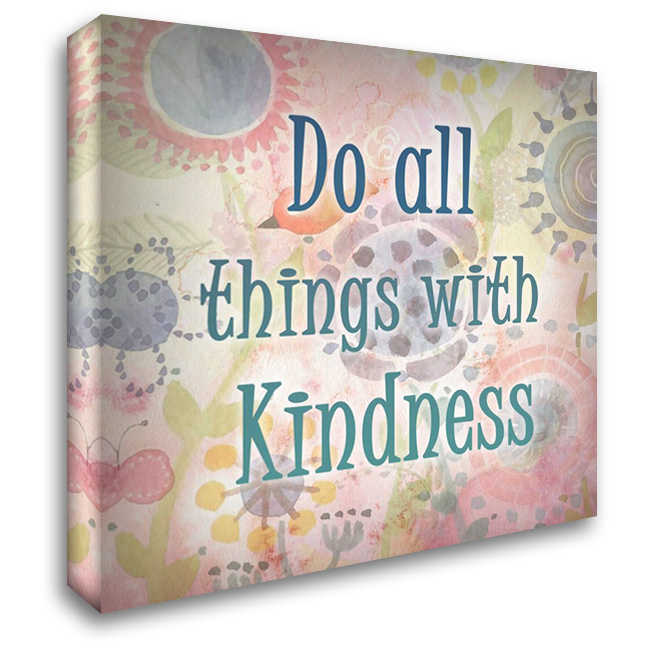 Do all Things 28x28 Gallery Wrapped Stretched Canvas Art by Allen, Kimberly