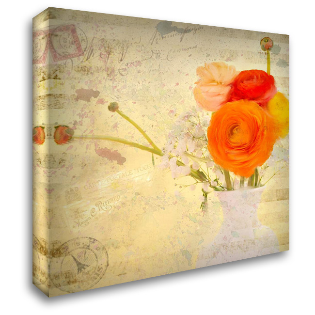 Happiness 28x28 Gallery Wrapped Stretched Canvas Art by Allen, Kimberly